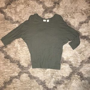 ST. TROPEZ WEST Olive green top